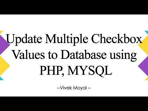 Update Multiple Checkboxes Using PHP MySql - Tutorial