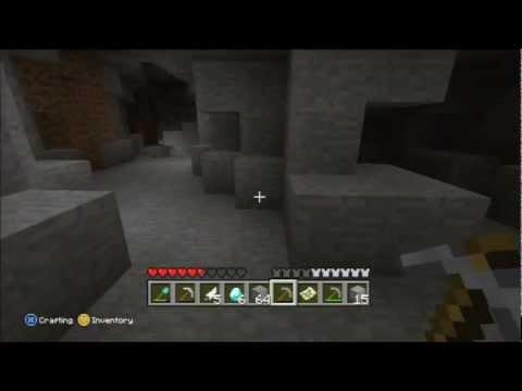 Minecraft for Xbox 360 Part 19 - Zombie Cave, More diamonds