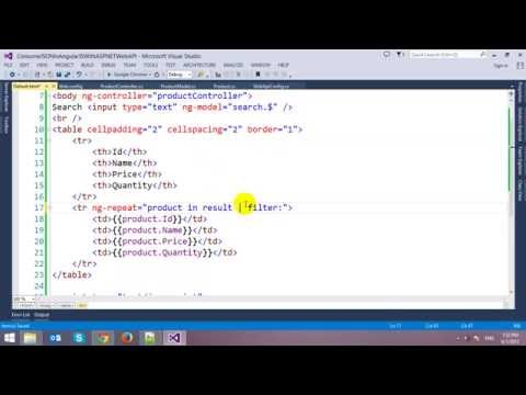AngularJS with ASP.NET Web API