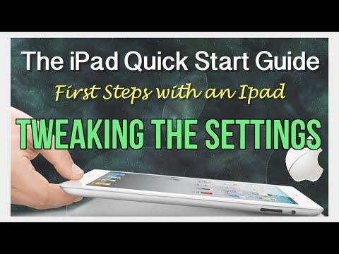 Tweaking the iPad's settings