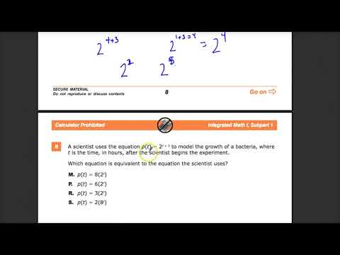 Question 5 -  Integrated Math 1 -  TNReady Practice Test