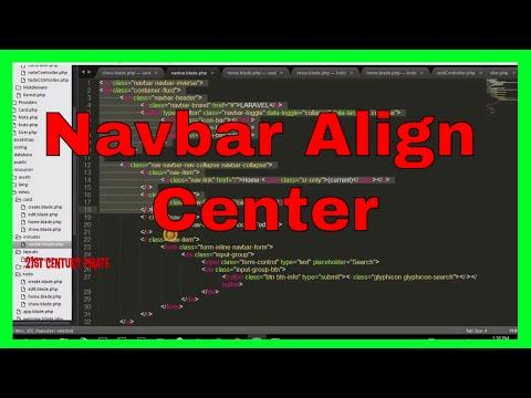 Navbar Center Align Using CSS - Bootstrap Navigaion bar Align to Center