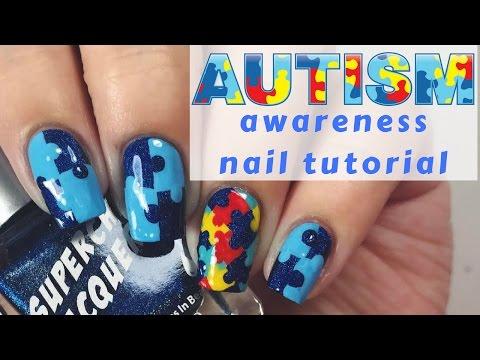💙 Autism Awareness Nail Tutorial 💙