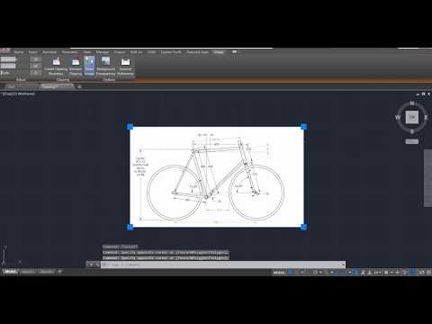 AutoCAD 2018 Speed Tutorial - Importing Images Correctly
