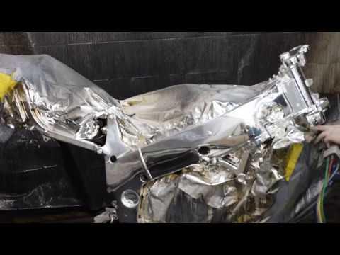 Spray on Chrome Motorcycle Frame | Liquid 3D Design