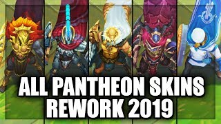 All Pantheon Skins Rework 2019 (League of Legends)