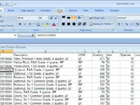 Excel 2007 Subtotal Tutorial