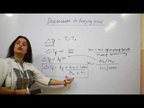 DEPRESSION IN FREEZING POINT ( COLLIGATIVE PROPERTIES ) - SOLUTION-(CHAPTER-2) CLASS 12