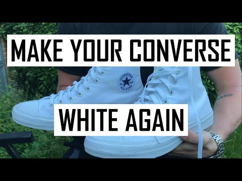 How to Clean Your White Converse and any Other Fabric Shoe (D.I.Y WITHOUT BLEACH)