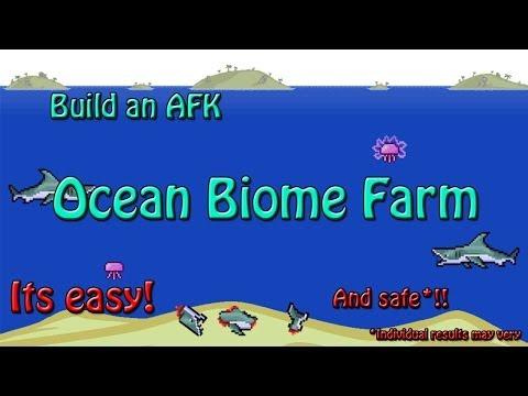 Terraria 1.2 - How to build an AFK Ocean Biome Farm