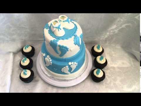 Baby's Feet Shower Cake