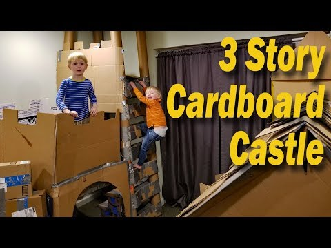 3 Story Cardboard Castle with draw bridge!!!!