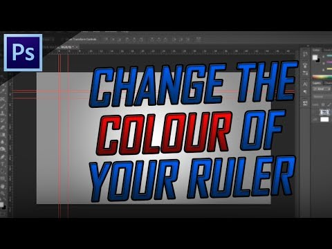 How To Change The Colour Of Your Rulers/Guides ~ Photoshop Quick Tip