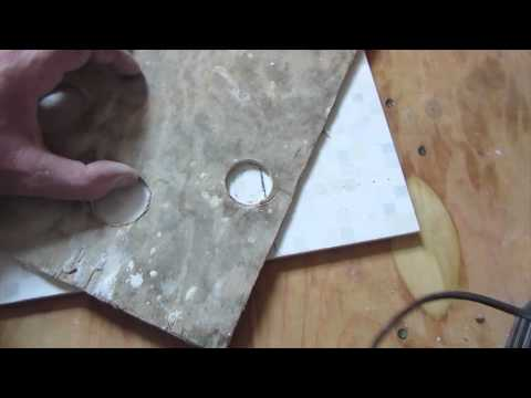 How to drill a hole with a core bit in ceramic tile,  porcelain tile drilling