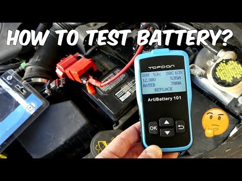 HOW TO TEST CAR BATTERY with TOPDON Battery Tester