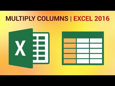 How to Multiply Columns in Excel 2016