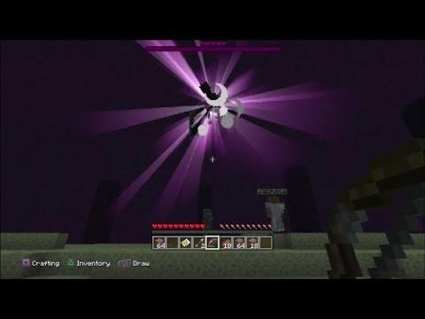 Minecraft PS3 - Killing The Ender Dragon (Survival & Platinum Trophy)