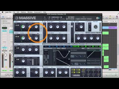 Logic 9 410: Dubstep Deconstructed - 13. Making a Cinema Wobble Bass in NIs MASSIVE