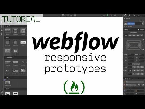From wireframe to website prototype - Webflow Tutorial