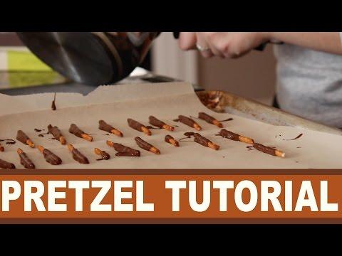 Yogurt and Chocolate Covered Pretzel Tutorial!