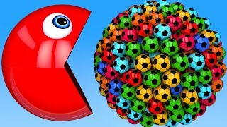 Download Learn Colors with PACMAN and Farm 3D Soccer Ball for Kid Children Video