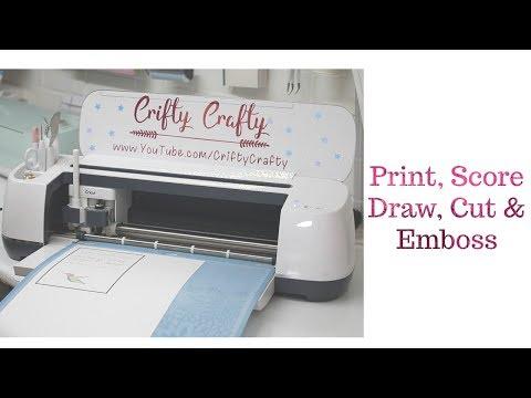 Cricut Print, Score, Draw, Cut & Emboss in one project