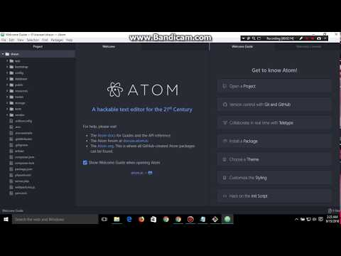 how  to open atom with project by command prompt | laravel | path change