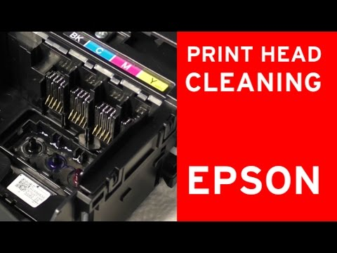 Epson print head cleaner, nozzle cleaning - flushing clogged nozzles