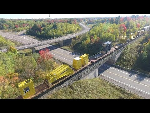 Awesome Loads! DJI Phantom 3 Video - CN Train 305 at Berry Mills, NB (Oct 7,2017)