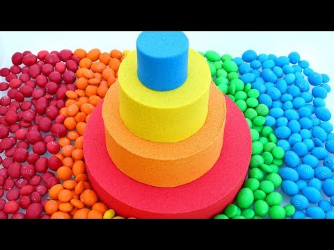 Learn Colors Kinetic Sand Rainbow Candy M&M Cake How To Kids Video Mad Mattr