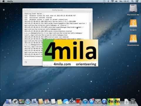4mila Orienteering Software How-To: Mac OS X Snow Leopard Installation (Version 1.0.2)
