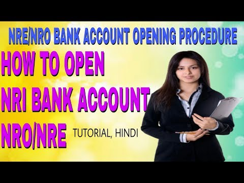 Nri bank account open procedure # nre account Kese open kre Hindi