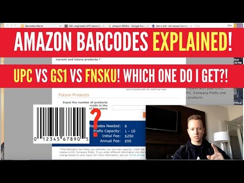 Amazon Barcodes EXPLAINED! UPC vs. GS1 vs. FNSKU! Which One Should You Get?!