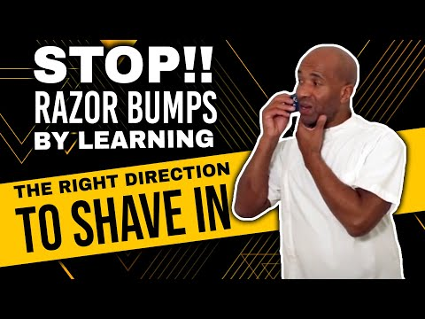 Stop!! Razor Bumps & Ingrowing hairs, By Learning Which Direction To Shave In