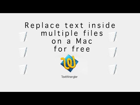 How to Replace text inside multiple files on Mac for free with TextWrangler