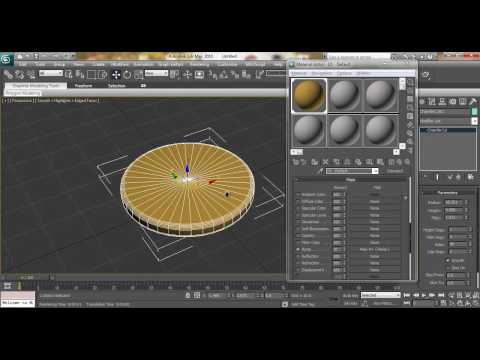 3ds Max Modeling Tutorial: How to model Biscuit using Chamfer Cylinder