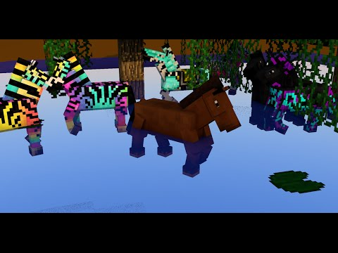 Wild Horses. [Minecraft Speed Art]