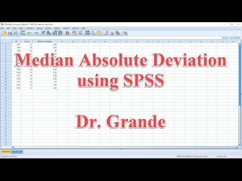 Median Absolute Deviation using SPSS