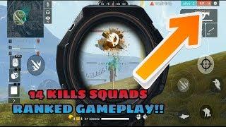 Solo Vs Squad 14 Kills Personal Record Free Fire Battlegrounds