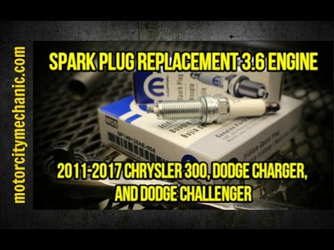 2011-2017 Chrysler 300, Dodge Charger, and Dodge Challenger 3.6 spark plug replacement