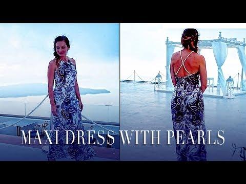 DIY   MAXI DRESS WITH PEARL DETAILS   SZILVIA BODI
