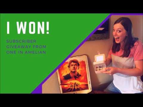 I WON! Subscriber giveaway
