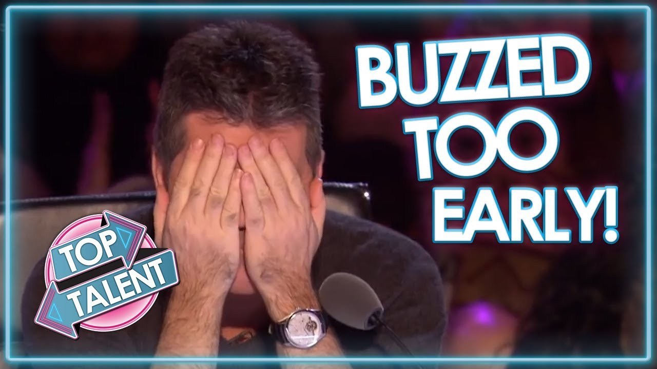 Judges BUZZ TOO EARLY On Britain's Got Talent!   Top Talent