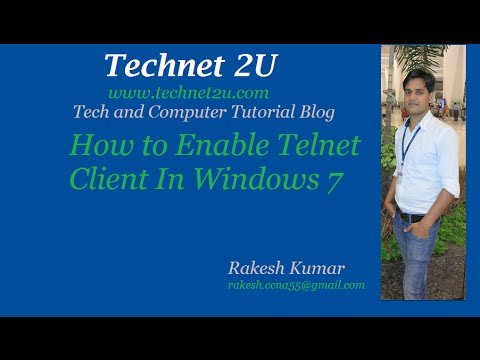 How to Enable Telnet Client In Windows 7