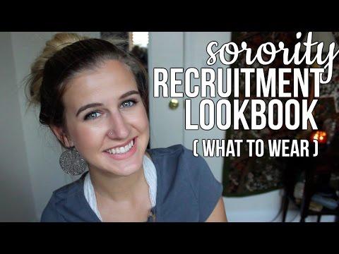 Sorority Recruitment Lookbook! || SA