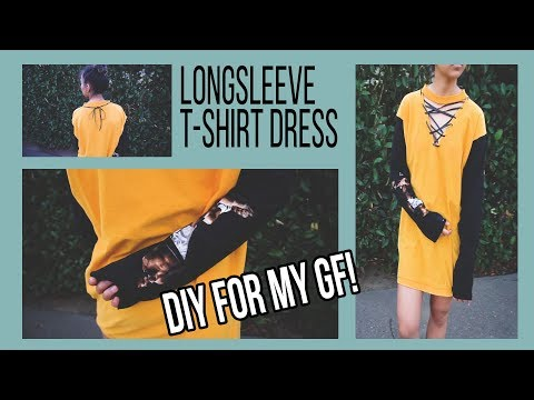 ✂ Making Women's Streetwear for my GF | Custom Long Sleeve T-shirt Dress