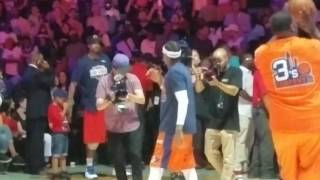 Allen Iverson introduction & shoot around at first-ever BIG3 game