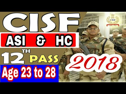 New Cisf vaciencies Asi and Hc post..All all india candidates..