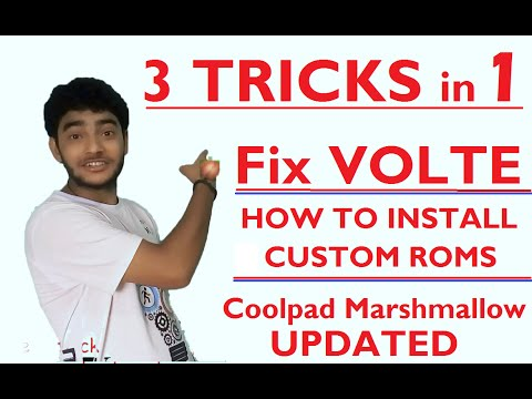 How to fix Jio VOLTE problem and install custom Roms | Coolpad note