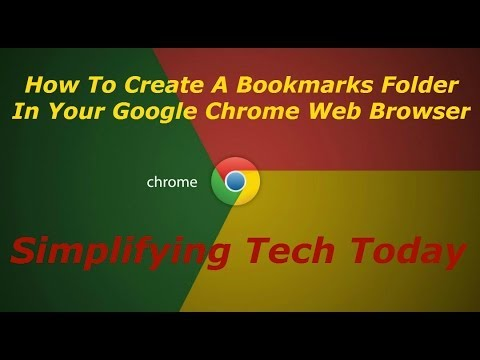How To Create A Bookmarks Folder In Your Google Chrome Web Browser Simplifying Tech Today